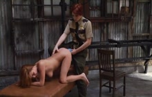 Hot redhead cop busts sexy girl