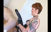 Femdom with strap on