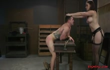 Vigorous Domina Strapon Fucking Her Slave