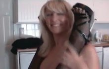Big tit blonde MILFs fucking with strapon
