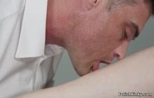 Busty redhead anal fucks fed agent