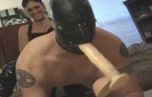 Strapon Mistress Fucks Submissive Masked Guy