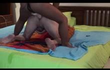 Thai girl pegging her lover