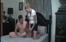 Hot wife pegging her husband