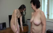 Strapon fucking by two lesbians