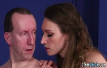 Cfnm babe gives head to loser