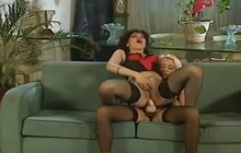 French Classic Strapon Sex